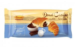 Poza 1 Croissant Boromir Crema Ciocolata si Vanilie 60g