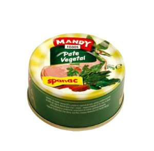 Poza 1 Pate Vegetal Mandy Spanac 120g