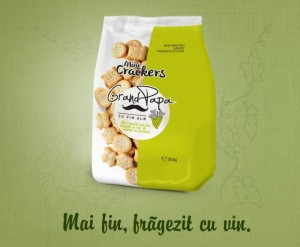 Poza 1 Grand Papa Mini Crackers Vin Alb 300g