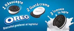 Biscuiti Oreo Cacao si Crema Vanilie 66g