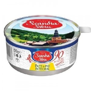 Poza 1 Pate Scandia Sibiu Pui Integral 120g