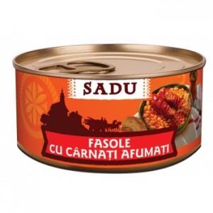 Poza 1 Fasole Taraneaca Sadu Carnati Afumati 300g
