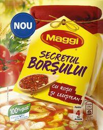 Poza 1 Secretul borsului cu rosii si leustean Maggi 70g