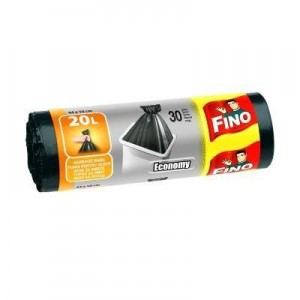 Poza 1 Pungi Gunoi Fino 20L 30 Bucati 44x50cm