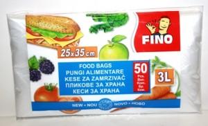 Poza 1 Pungi Alimentare Fino 3L 50 Bucati  25x35cm