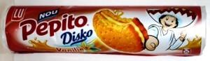 Poza 1 Biscuiti Pepito Disko Crema Vanilie 157g