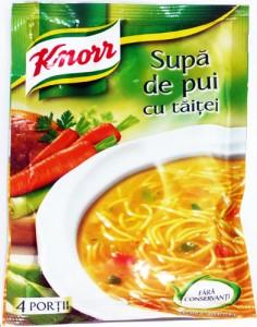 Poza 1 Supa Instant Pui cu Taitei Knorr 59g