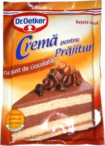 Poza 1 Crema pentru Prajituri cu gust de Ciocolata Dr. Oetker 55g