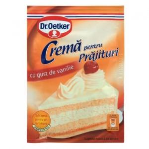 Poza 1 Crema pentru Prajituri cu gust de Vanilie Dr. Oetker 50g