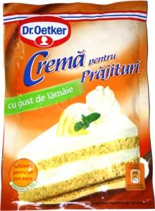 Poza 1 Crema pentru Prajituri cu gust de Lamaie Dr. Oetker 50g