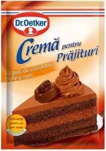 Poza 1 Crema pentru Prajituri cu gust de Ciocolata, Trufe si Rom Dr. Oetker 57g