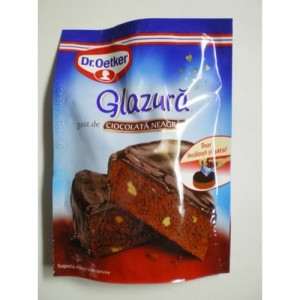 Poza 1 Glazura cu gust de Ciocolata Neagra Dr. Oetker 100g