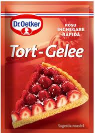 Poza 1 Tort-Gelee Rosu Dr. Oetker 8g