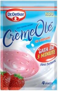 Poza 1 Praf pentru desert Creme Ole Capsuni Dr. Oetker 75g