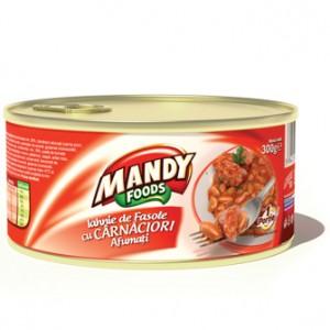 Poza 1 Iahnie de Fasole cu Carnati Mandy 300g