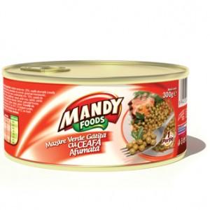 Poza 1 Mazare cu Ceafa Afumata Mandy 300g