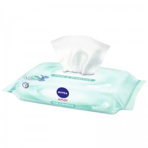 Poza 1 Servetele Umede Nivea Baby Pure&Sensitive 63buc