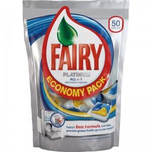 Poza 1 Capsule masina spalat vase Fairy Platinum 50buc