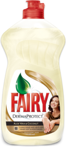 Poza 1 Detergent Lichid Spalat Vase Fairy Aloe Vera si Nuca Cocos 500ml Derma Protect