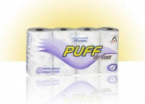 Poza 1 Hartie Igienica Puff de Luxe 8 role 4 straturi