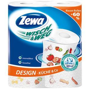 Poza 1 Prosoape Bucatarie Zewa Wisch&Weg Design 2 role 2 straturi