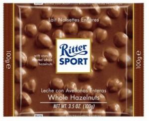Poza 1 Ciocolata cu Lapte si Alune Intregi Ritter Sport 100g