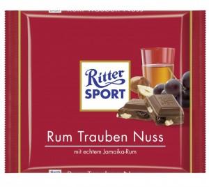 Poza 1 Ciocolata cu Lapte, Rom, Stafide si Alune Ritter Sport 100g