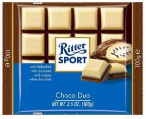 Poza 1 Ciocolata Alba si cu Lapte Ritter Sport Choco Duo 100g