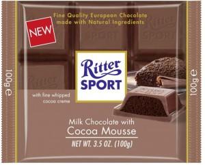 Poza 1 Ciocolata cu Lapte si Crema Usoara de Cacao Ritter Sport 100g