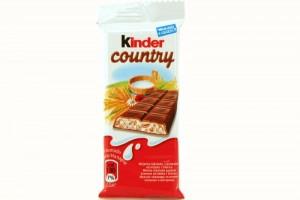 Poza 1 Ciocolata cu Lapte si Cereale Kinder Country 23.5g