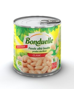 Poza 1 Fasole albă boabe Bonduelle 425 ml