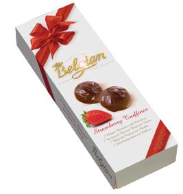 Poza 1 Bomboane Belgian Strawberry Truffines 60g