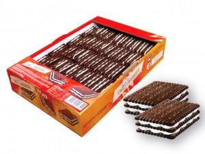 Poza 1 Biscuiti Sandwich Cacao cu Crema Frisca Dr.Krantz 0.9Kg