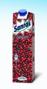 Poza 1 Santal Cranberry (merisor) 25% cutie carton 1L
