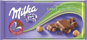 Poza 1 Milka Ciocolata cu Lapte si Alune Intregi 100g