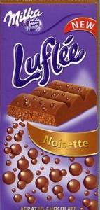 Poza 1 Milka Ciocolata Lapte si Pasta de Alune Noisette Luflee 100g