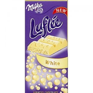 Poza 1 Milka Ciocolata Alba Luflee 100g