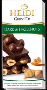 Poza 1 Heidi Grand'or Ciocolata Amaruie cu Alune 100g