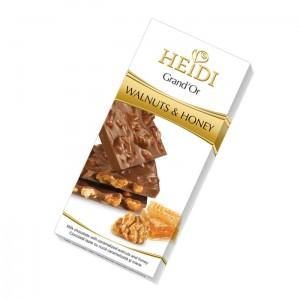 Poza 1 Heidi Grand'or Ciocolata cu Nuca si Miere 100g