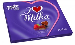 Poza 1 I Love Milka cu Crema de Capsuni 120g