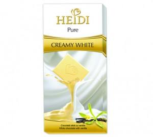 Poza 1 Heidi Pure Ciocolata Alba cu Vanilie 80g