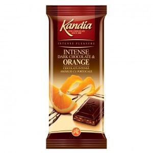 Poza 1 Kandia Ciocolata Intensa Amaruie cu Portocale 80g