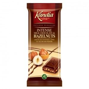 Poza 1 Kandia Ciocolata Intensa Lapte cu Alune de Padure 80g
