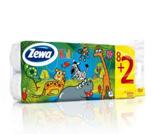 Poza 1 Hartie Igienica Zewa Kids 8+2 role