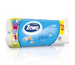 Poza 1 Hartie Igienica Zewa Plus Aqua 8+2 role