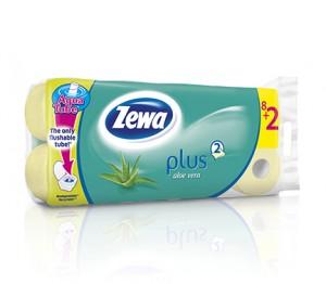 Poza 1 Hartie Igienica Zewa Plus Aloe Vera 8+2 role