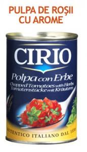 Poza 1 Pulpa de rosii cu ierburi Cirio 400g