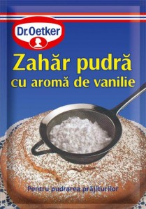 Poza 1 Zahar Pudra cu aroma vanilie Dr.Oetker