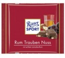 Foto Ciocolata cu Lapte, Rom, Stafide si Alune Ritter Sport 100g
